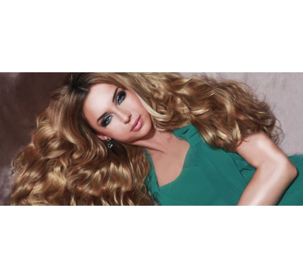 Bouncy Beautiful Mega Volume Hair With Hair Couture Remy Gold