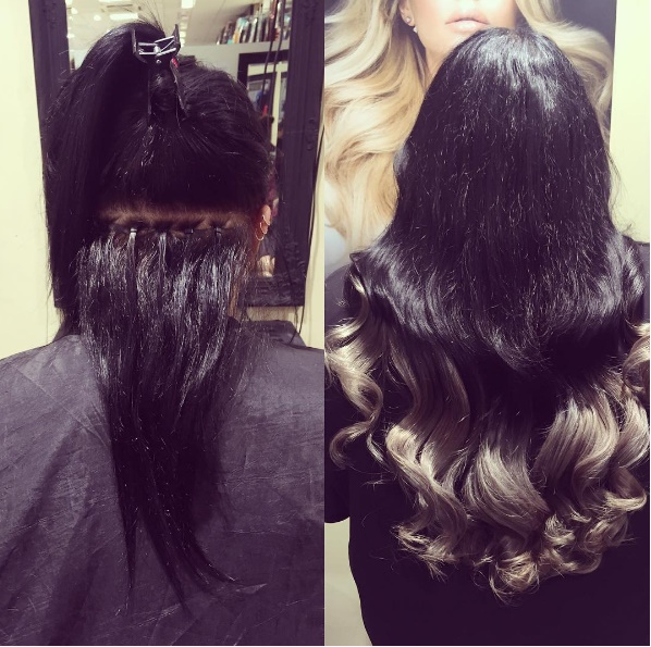 Hair extensions pauls hair world 5 clients own hair fitted with 3 rows of beaded weave by our salon manager chelsea 15 per row pmusecretfo Image collections