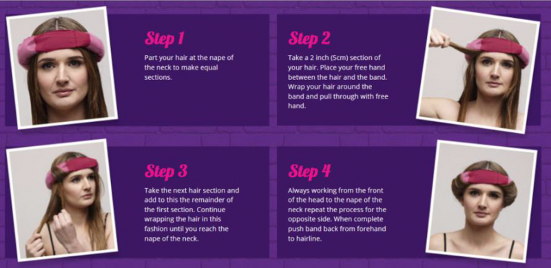 Weave bar pauls hair world in only 4 steps you can achieve salon style curls in a perfect nights sleep simply dampen hair with water or setting spray and follow wrapping instructions pmusecretfo Image collections