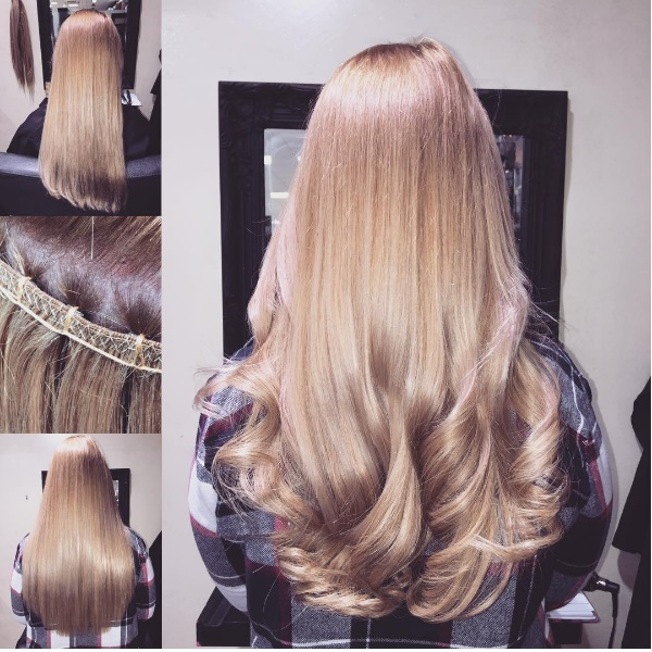 Hair extensions pauls hair world 4 before during and after of 3 rows phw beaded weave by chelsea using boutique hair extensions curled and finished with ghd platinum hair straighteners pmusecretfo Image collections