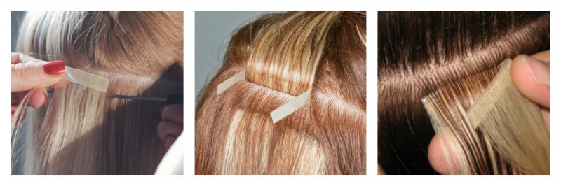 Introductioning The Newest Method Of Fitting Hair Extensions Is Tape It Requires No Adhesive On Scalp Weaving Braiding Or Bonding