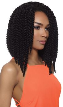 "X-Pressions 3D Twist Braids 12"" Synthetic Crochet Braids Side"