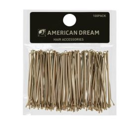 American Dream BLONDE Straight Hair Grips 2inch 100pcs