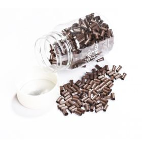 Beauty Works Copper Micro Rings - Brown 500pcs