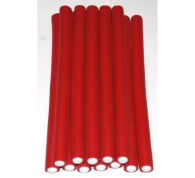 Mayfair Bendy Rubber Rods 12 Pack Red 12mm x 180mm