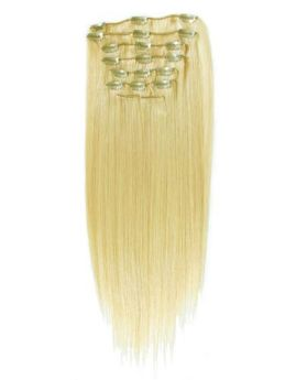Blondes Sensationnel Soft N Silky 8 Piece Clip In Synthetic Extensions Futura Fibre