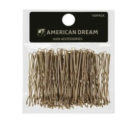 American Dream BLONDE Wavy Hair Grips 2inch 100pcs