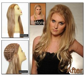 Reds & Coppers Boutique Half Wig 100% Human Hair