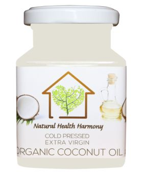Natural Health Harmony Cold Pressed Extra Virgin Organic Coconut Oil 200ml