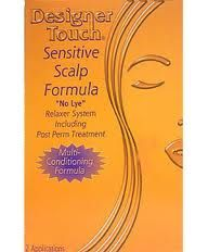 Designer Touch Sensitive Scalp Formula No-Lye Relaxer System 2 Applications