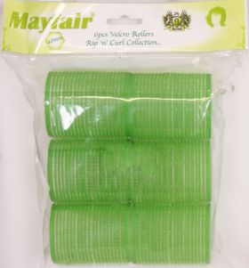 Mayfair Green Velcro Rollers 48mm