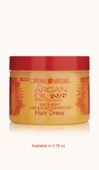 Creme Of Nature Argan oil Day & Night Hair & Scalp Conditioner Hairdress 4.76oz