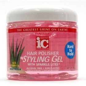 Fantasia IC Hair Polisher Styling Gel With Sparkle Lites Tub Hard To Hold 454g
