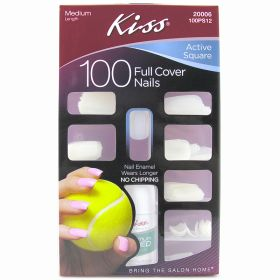Kiss 100 Active Square Full Cover Nails