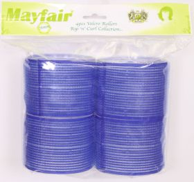 Mayfair Dark Blue Velcro Rollers 78mm