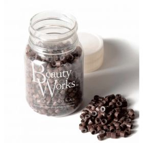 Beauty Works Aluminium Micro Rings 500 Pieces - Brown