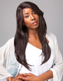 Sensationnel Bare & Natural Remi Brazilian Lace Front Natural Straight 100% Human Wig
