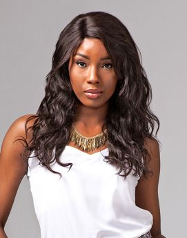 Sensationnel Bare & Natural Remi Brazilian Lace Front Natural Wavy 100% Human Wig