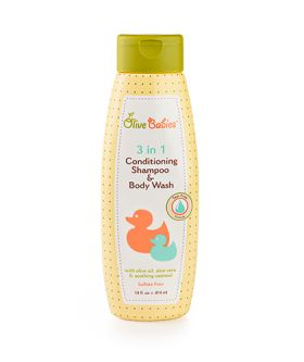 Olive Babies 3 In 1 Conditioning Shampoo & Body Wash 414ml