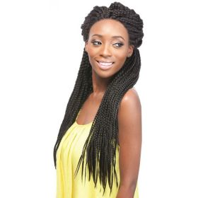 X-Pressions Box Braid Large Lace Front Wig Updo