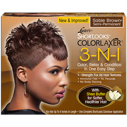 Lusters Shortlooks ColorLaxer 3-in-1 Sable Brown