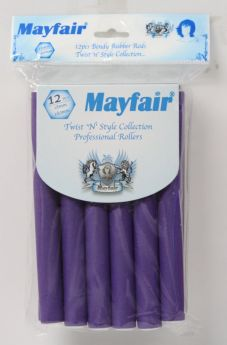 Mayfair Bendy Rubber Rods 5 Pack Purple