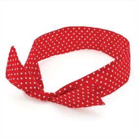 Red and White Polka Dot Wire Head Scarf HA29162