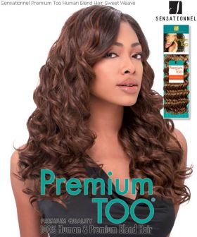 Blacks & Browns Premium Too Sweet Weave 100% Human Hair With Premium Blend Hair