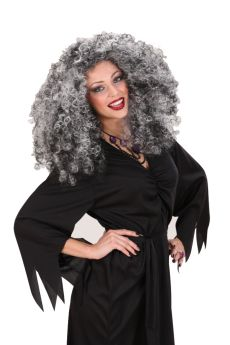 Curly Grey Witch Wig